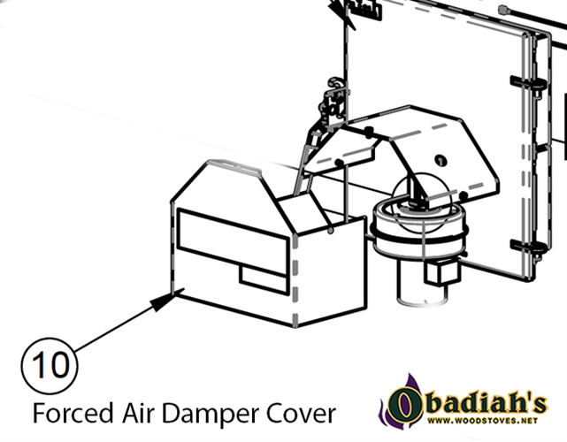 Cozeburn Outdoor Boiler Replacement Damper Cover