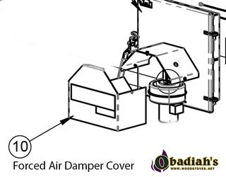 Cozeburn Outdoor Boiler Replacement Damper Cover