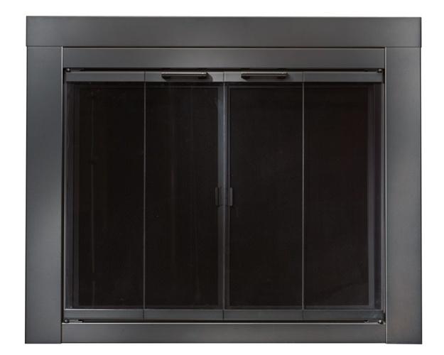glass guy fireplace black fire doors door