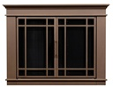 Hamilton Bronze Fireplace Doors Medium