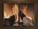 Newcastle Fire Screen Oil Rubbed Bronze Doors Size 2