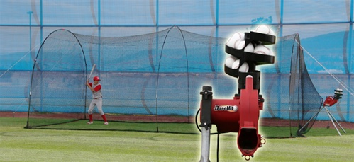 Heater Basehit Pitching Machine Amp Poweralley Batting Cage