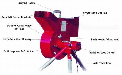heater pitching machine parts