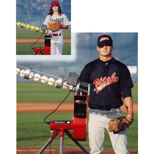 batting cage pitching machine combo