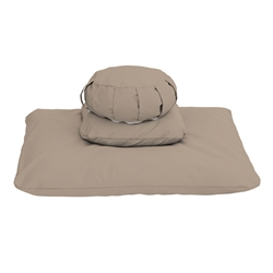 Deluxe Buckwheat Zafu Meditation Cushion Set