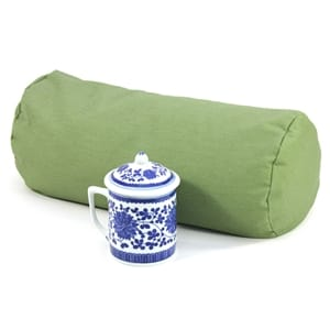 Bolster Meditation Cushion in Organic Fabric with Buckwheat Fill