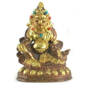 Seated Jambhala Buddha Statue, 2.25 inches