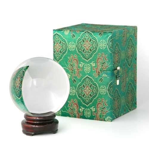 80 mm (3 1/8 inches)  Crystal Ball