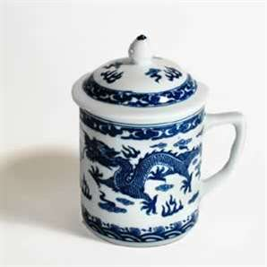Blue Dragon Mug with Cover