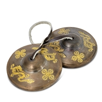 Tingsha Cymbals with Dragon Pattern