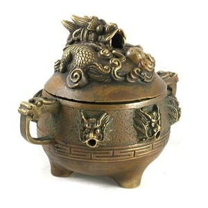 Dragon Incense Burner - Brass