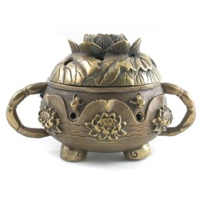 Brass Incense Burner - Lotus design