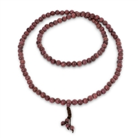 Purpleheart Wood Mala 8mm Beads
