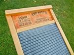 Large Family-Size Zinc Herringbone Washboard.