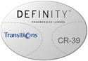Essilor Definity Plastic CR-39 Transitions VI