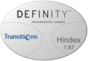 Essilor Definity High Index 1.67 Transitions VI