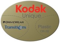 Kodak Unique Plastic CR-39 DriveWear
