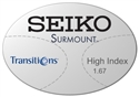 Seiko Surmount High Index 1.67 Transitions