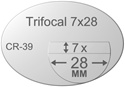 Trifocal Flat Top 7X28 Plastic CR-39