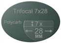 Trifocal Flat Top 7X28 Polycarbonate Polarized