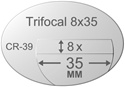 Trifocal Flat Top 8X35 Plastic CR-39