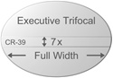 Trifocal Flat Top Executive Plastic CR-39