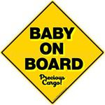 Baby On Board car stickers clings decals & magnets
