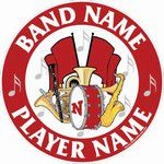 band stickers decals clings & magnets