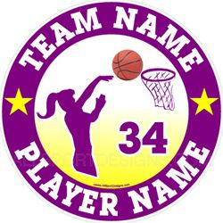 basketball car clings stickers decals & magnets