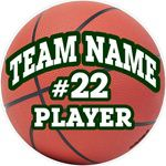 basketball clings stickers decals & magnets