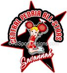 cheerleading stickers decals & magnets