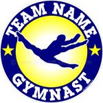 gymnastics stickers decals clings & magnets