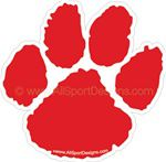 Paw Print helmet sticker decals