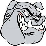 Bulldog helmet sticker decals
