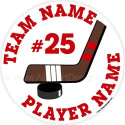 hockey car stickers decals clings & magnets