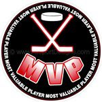 hockey puck MVP stickers decals clings