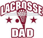 Lacrosse DAD decals stickers clings & magnets