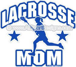 Lacrosse MOM decals stickers clings & magnets