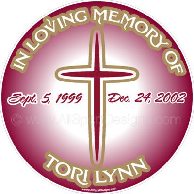 MEMORY OF Stickers Clings Decals Magnets - Window decals in memory of