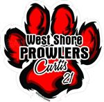 Paw print window sticker decal magnet wall decal