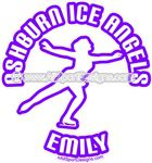 ice skating car stickers decals clings & magnets