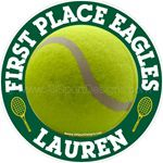 tennis window sticker decal & magnetic decal