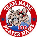 wrestling window sticker decal clings & magnets