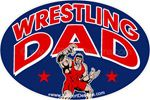 Wrestling DAD car stickers decals clings & magnets