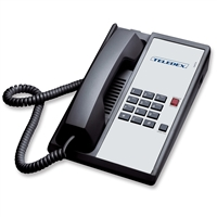 Teledex DA110N0D Black 1-Line Analog Hotel Room Phone