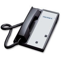 Teledex DA110N0L Black Analog Hotel Lobby Phone