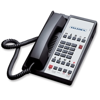 Teledex DA110S10D Black 1-Line Analog Hotel Room Phone
