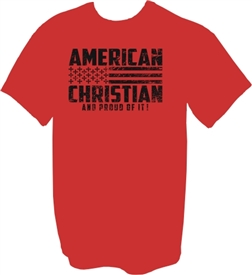 American Christian and Proud of it T-Shirt in Red