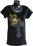 Daughter of God Ladies Christian Top in Black