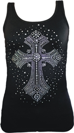 Galaxy Bling Cross Christian Tank Top